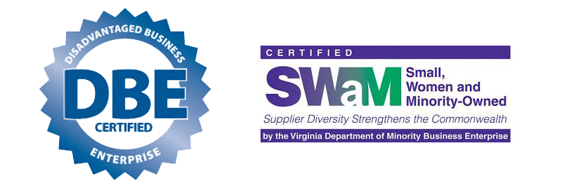 DBE Certified and SWAM logo